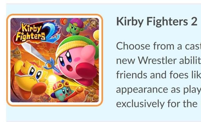 Kirby Fighters 2 leak