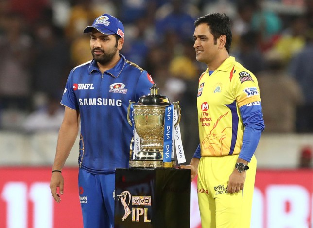 Mumbai Indians captain Rohit Sharma and Chennai Super Kings skipper MS Dhoni