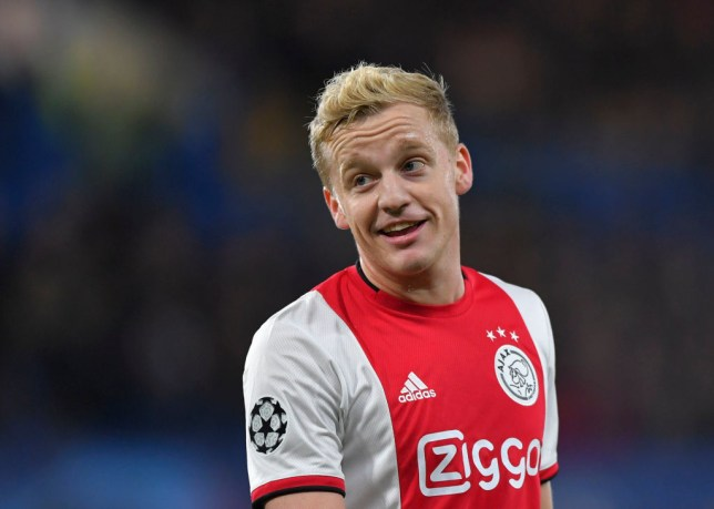 Donny van de Beek completed his transfer to Manchester United on Wednesday