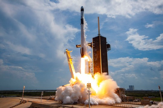 The first SpaceX astronaut launch in Cape Canaveral in May.