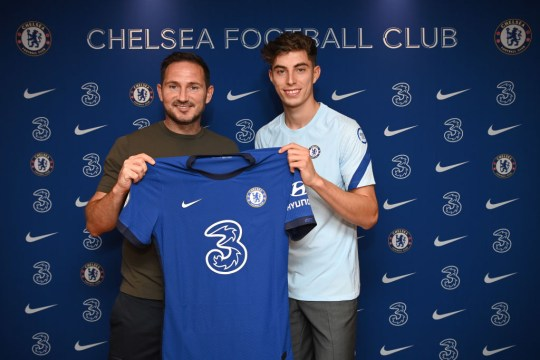 £71m signing Havertz with Chelsea manager Frank Lampard