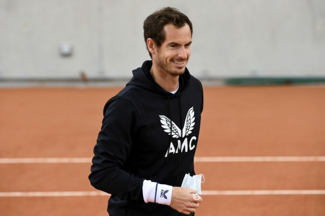 Andy Murray of Great Britain looks on during a training session at Roland Garros  on September 25, 2020 in Paris, France.