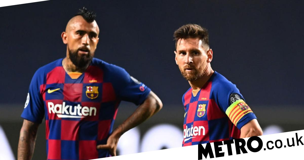 Lionel Messi sends message to Arturo Vidal as midfielder leaves Barcelona - Metro.co.uk