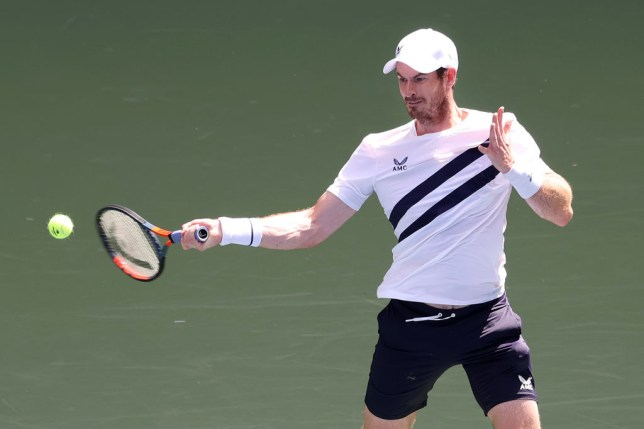 Andy Murray of Great Britain returns the ball during his Men's Singles first round match against Yoshihito Nishioka of Japan on Day Two of the 2020 US Open at the USTA Billie Jean King National Tennis Center on September 1, 2020 in the Queens borough of New York City.