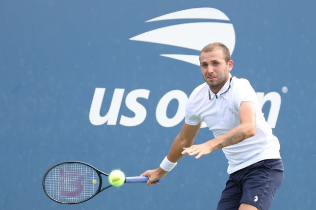 Daniel Evans of Great Britain returns the ball during his Men's Singles second round match against Corentin Moutet of France on Day Four of the 2020 US Open at the USTA Billie Jean King National Tennis Center on September 3, 2020 in the Queens borough of New York City.