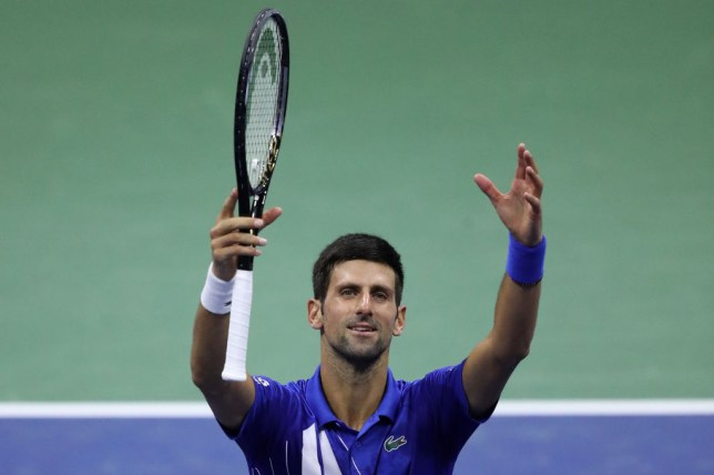 Novak Djokovic of Serbia celebrates a win during his Men's Singles third round match against Jan-Lennard Struff of Germany on Day Five of the 2020 US Open at USTA Billie Jean King National Tennis Center on September 04, 2020 in the Queens borough of New York City.