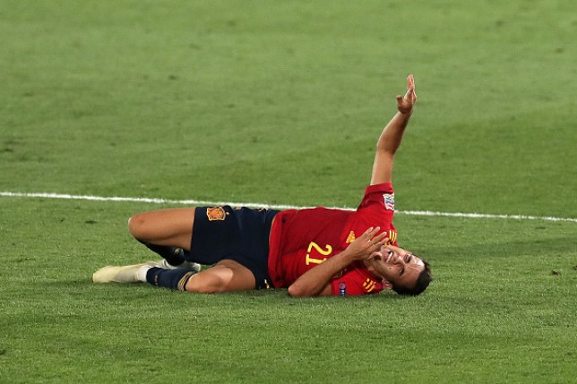 Reguilon let out a shriek on the pitch