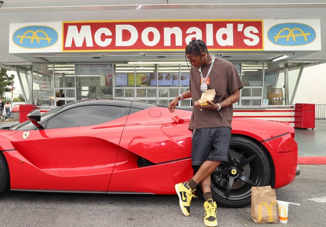 Travis Scott at McDonald's for the Launch of The Travis Scott Meal