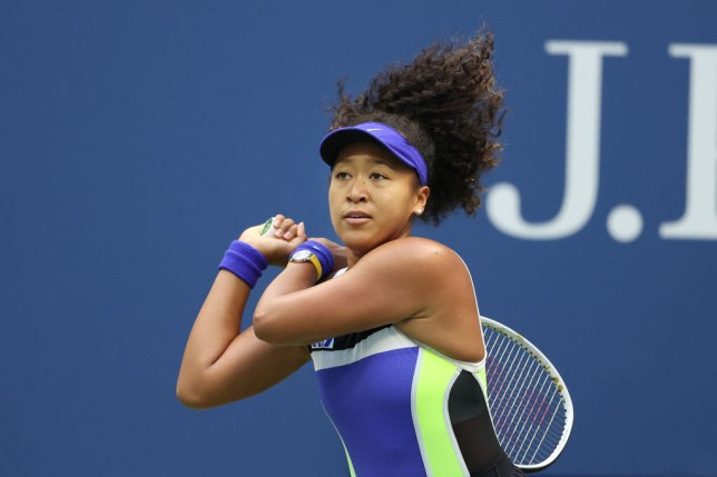 Naomi Osaka of Japan returns the ball in the second set during her Women's Singles final match against Victoria Azarenka of Belarus on Day Thirteen of the 2020 US Open at the USTA Billie Jean King National Tennis Center on September 12, 2020 in the Queens borough of New York City.