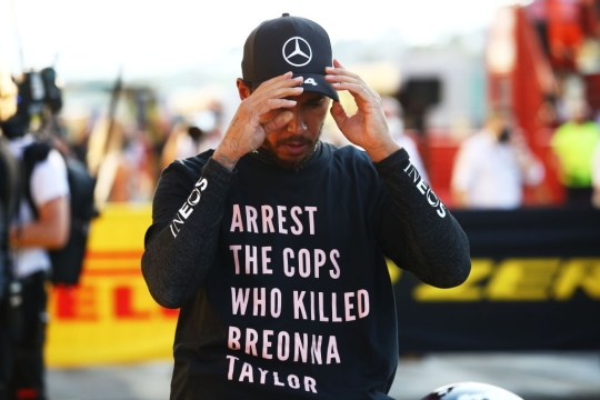 The FIA forbids drivers from displaying political messages at race events
