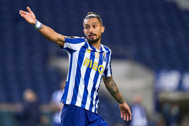 Manchester United transfer target Alex Telles looks on during Porto's clash with Braga