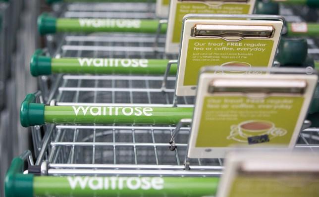Waitrose trolley