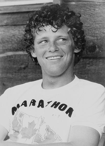 Handicapped Runner Terry Fox Smiling