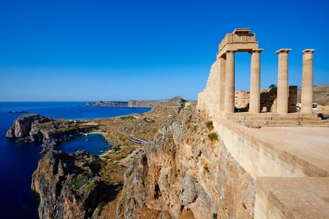 Greece, Dodecanese, Rhodes, Lindos Acropolis