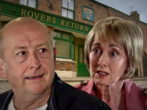 What is Geoff up to in Coronation Street and where is Elaine?