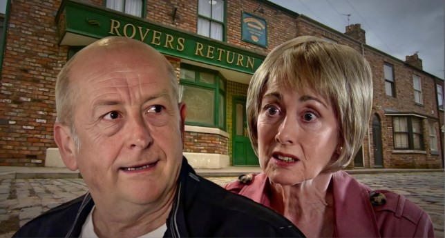 Geoff and Elaine in Coronation Street