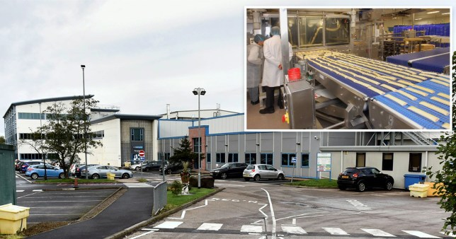 A van leaves the Greggs production factory at Balliol Business Park, in Longbenton, North Tyneside, which has closed due to an outbreak of coronavirus among staff