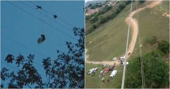 Paraglider stuck on electric wires for eight hours after getting tangled
