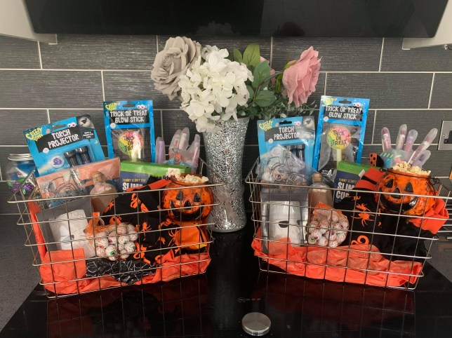 Creative mum makes Halloween basket for sons so they can still celebrate despite Covid