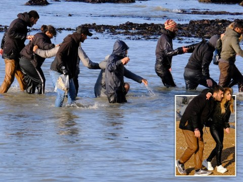 Exhausted migrants wade to Kent coast as record 409 make trip across Channel