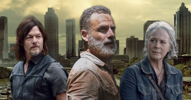 The Walking Dead Carol, Rick, Daryl
