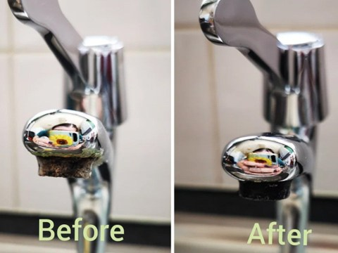 Woman discovers genius hand wash sink cleaning hack by accident