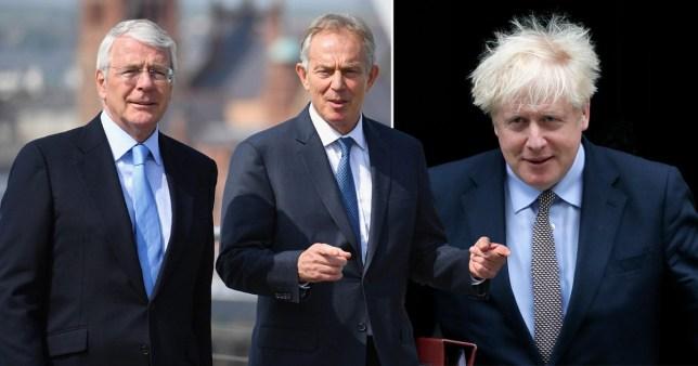 Sir John Major, Tony Blair and Boris Johnson
