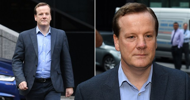 Disgraced former Conservative MP Charlie Elphicke enters Southwark Crown Court on the day of his sentencing for three counts of sexual assault of two women