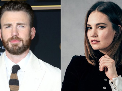 Is Chris Evans married and is he dating Lily James?