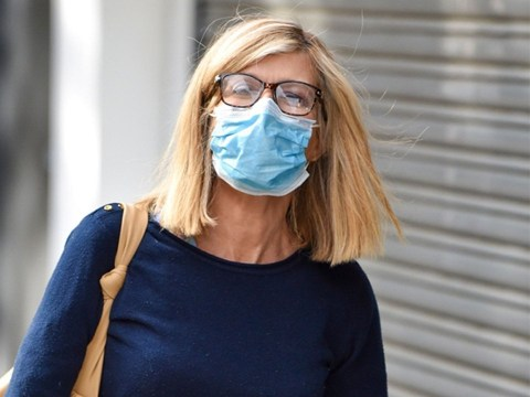Kate Garraway all smiles after mystery eye injury as she rocks glasses for work