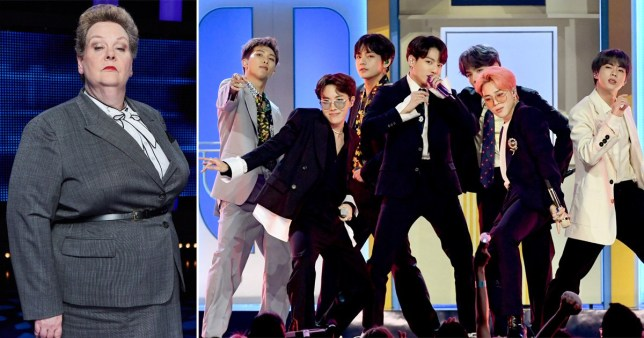 The Chase's Anne Hegerty and BTS
