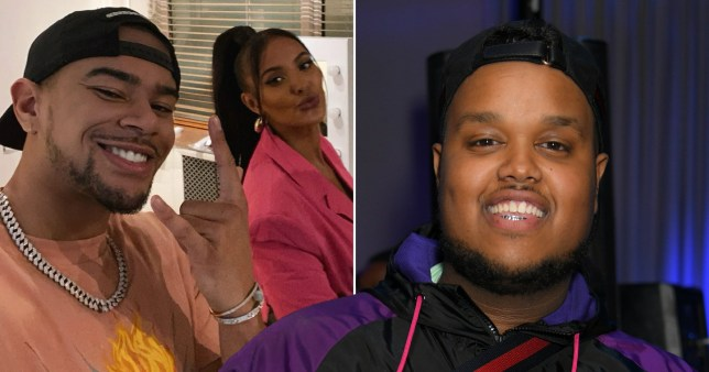 Wes Nelson and Maya Jama selfie pictured alongside Chunkz