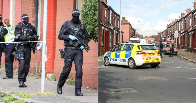 Two people have reported to have been stabbed in North Manchester