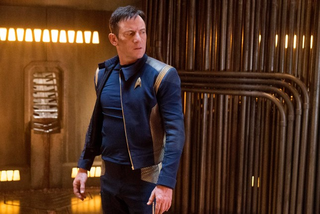 STAR TREK: DISCOVERY. Pictured: Jason Isaacs as Captain Gabriel Lorca