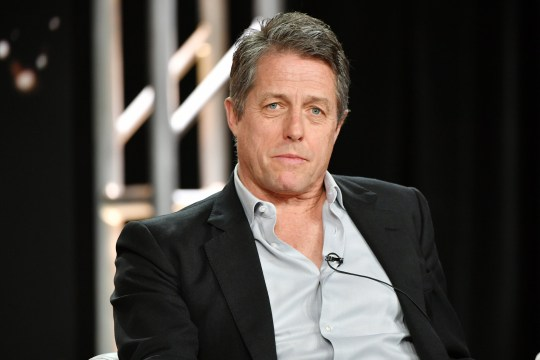 Hugh Grant at the press conference for new drama The Undoing