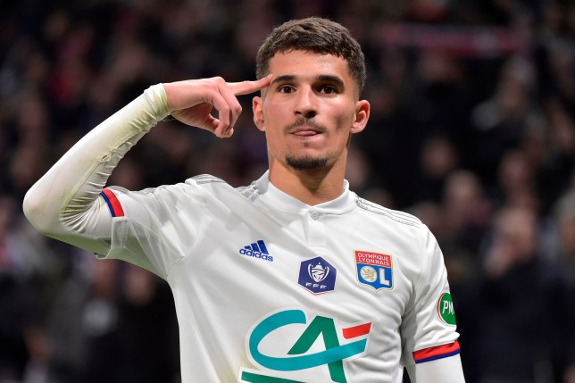 Lyon's French midfielder Houssem Aouar is wanted by Arsenal