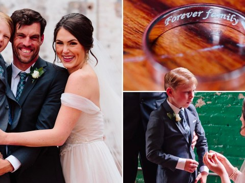 Bride gives stepson his own wedding ring to make him feel like a special part of the big day