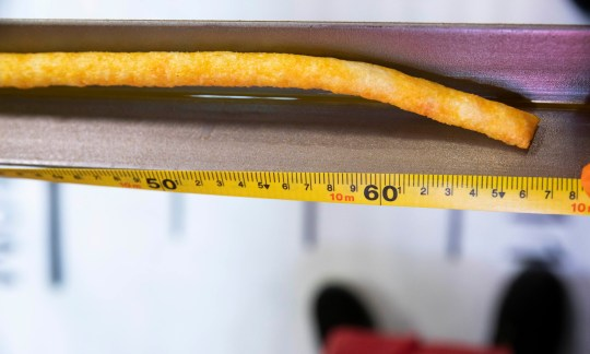 A team of manufacturing technicians at the Walkers factory in Leicester have officially set a Guinness World Record for the longest puffed corn snack on the planet with a 10.66 metre Wotsits Giant; affectionately nicknamed 'Wotzilla'