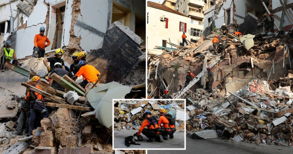 Possible signs of life detected under rubble of Beirut explosion