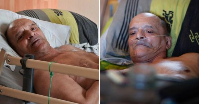 Le Français Alain Cocq, 57 ans, en phase terminale, dont la tentative de retransmission en direct de sa mort a été bloquée par Facebook, après que le président français Emmanuel Macron eut rejeté sa demande d'euthanasie