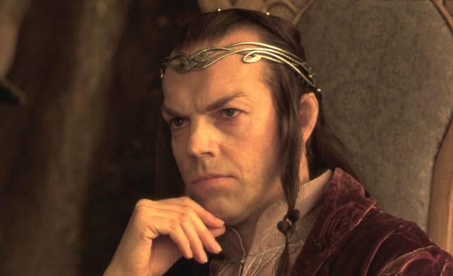 Editorial use only. No book cover usage. Mandatory Credit: Photo by Moviestore/REX/Shutterstock (1660305a) The Lord Of The Rings: The Fellowship Of The Ring, Hugo Weaving, Elrond (Character) Film and Television
