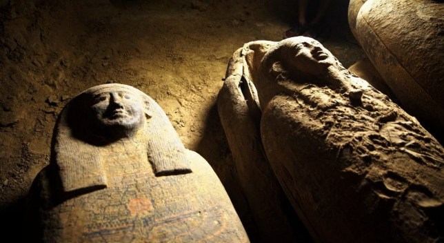 These coffins are 2,500 years old (Credits: Xinhua/REX)
