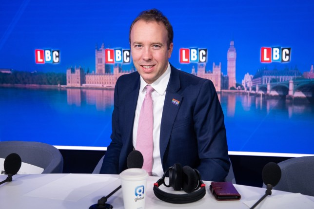 Health Secretary Matt Hancock on LBC