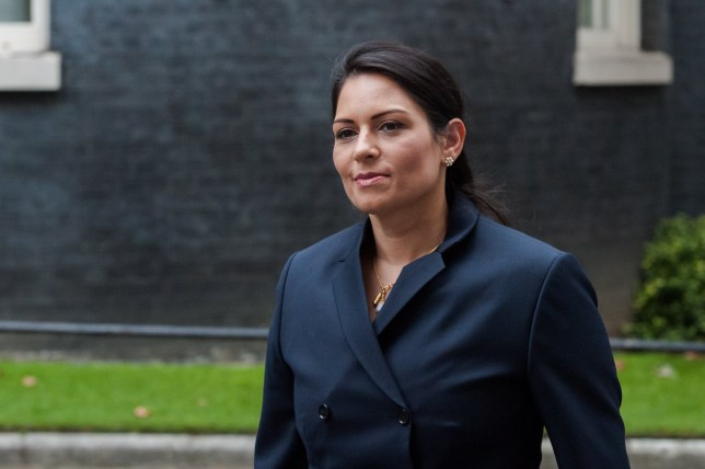LONDON, UNITED KINGDOM - SEPTEMBER 08, 2020: Secretary of State for the Home Department Priti Patel arrives in Downing Street in central London to attend Cabinet meeting temporarily held at the Foreign Office to comply with social distancing guidelines due to the ongoing coronavirus pandemic, on 08 September, 2020 in London, England.- PHOTOGRAPH BY Wiktor Szymanowicz / Barcroft Studios / Future Publishing (Photo credit should read Wiktor Szymanowicz/Barcroft Media via Getty Images)