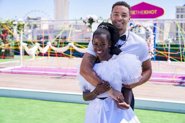 Love Island Justine Ndiba and Caleb Corprew