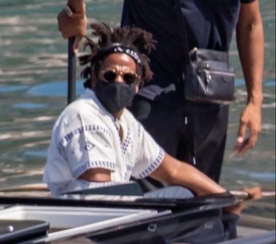 EXCLUSIVE: **USE CHILD PIXELATED IMAGES IF YOUR TERRITORY REQUIRES IT** * Min Web / Online Fee 300 GBP For Set * * Min Print Fee 300 GBP PP * Double Pg 1 * Famous celebrity couple Jay-Z & Beyonce are pictured as they leave a luxury yacht Lana near Cavtat, Croatia on September 8, 2020. They ended their a 7-day dream vacation in Croatia on 107 meters long yacht which is one of most expensive charter yachts in the world, roughly $2 million per week. Beyonce celebrated her 39th birthday on Friday at the island Bisaga Mala, which is located next to Galesnjak, famous heart shaped island. Romantic dinner was prepared by famus Sorento chef with 2 Michelin stars who was their chef on a whole vacation. On Saturday they were dining at restaurant Festa at Kornati archipelago. This is not their first visit to Croatia. 2011 Beyonce and Jay-Z were at island Hvar when Beyonce was pregnant with Blue Ivy and 2009 in Dubrovnik when media tried to take some photos and videos of the couple, which ended up with the incident between camerman and bodyguard of the couple. Pictured: Jay Z Ref: SPL5185751 080920 EXCLUSIVE Picture by: Grgo Jelavic/PIXSELL / SplashNews.com Splash News and Pictures USA: +1 310-525-5808 London: +44 (0)20 8126 1009 Berlin: +49 175 3764 166 photodesk@splashnews.com Australia Rights, Indonesia Rights, India Rights, South Korea Rights, Malaysia Rights, Norway Rights, Singapore Rights, Taiwan Rights, United Kingdom Rights, United States of America Rights