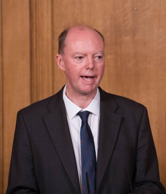Chief Medical Officer Professor Chris Witty attends a virtual press conference at Downing Street on September 9, 2020 in London, England.