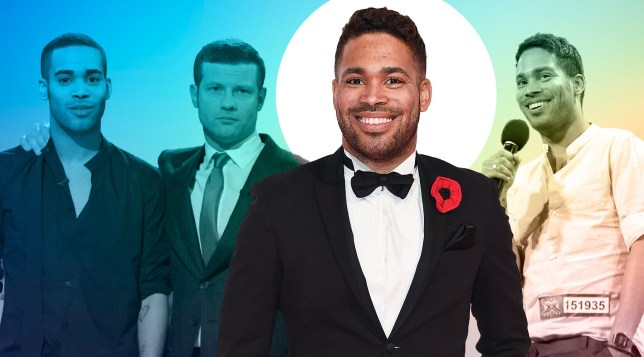 EXCL: Danyl Johnson looks on the positive side pf awkward moment he was 'outed' on x factor (Picture: Getty, Rex)