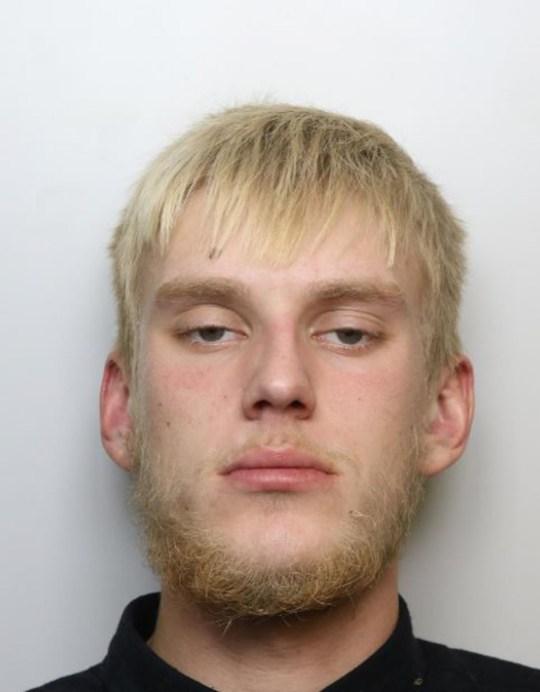 MERCURY PRESS. Northants, UK. (Pictured: Mitchell Liversedge's mugshot.) A domestic abuse survivor thought she was going to die when her violent ex kept her prisoner and smashed her face with a bathroom door after she went out with friends. Katrina Pidden, 39, was left with severe bruising after Mitchell Liversedge, 25, attacked her in their home. The thug held her prisoner for hours, locked her out of the house in the rain and shoved her during the year of abuse. (SEE MERCURY COPY)