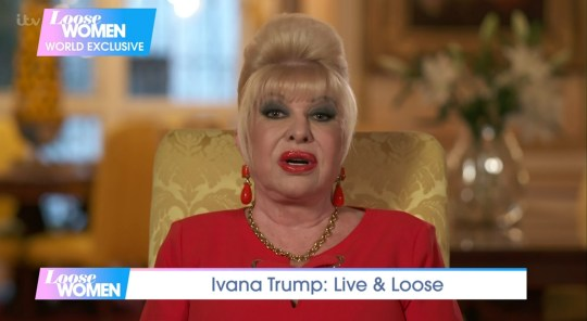 Mandatory Credit: Photo by ITV/REX (10776220ah) Ivana Trump 'Loose Women' TV Show, London, UK - 14 Sep 2020